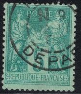 SAGE - N°75 - OBLITERATION - PARIS - DEPART - GRAND N DE NUIT . - 1849-1876: Periodo Clásico