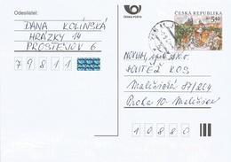 Czech Republic 2001 Prostekjov 5.40 Kc Postal Stationary Card - Postwaardestukken