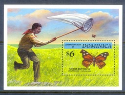 E152- Dominica Butterfly Insect. M/Sheet. - Butterflies