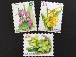 Taiwan Formosa 2018 Nr. 4206-06+4210 Orchideen Orchideengewächse Blumen Flora - 1945-... République De Chine