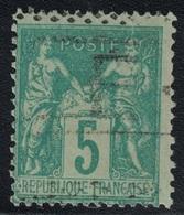 SAGE - N°75 - OBLITERATION - ROULETTE ANNULE - DE CAISSE D'EPARGNE PARIS - ENTAILLE. - 1849-1876: Periodo Clásico