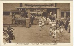 NETHERLANDS Unused Official Olympic Postcard Nr. 99 With The Marathon Leaving The Stadium - Summer 1928: Amsterdam