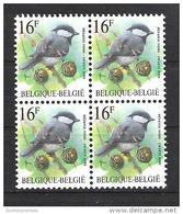 OCB 2804  Postfris Zonder Scharnier ** In Blok Van 4 - 1985-.. Vögel (Buzin)