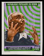 Benin 1978 Raoul Follereau Leprosy Pioneer Imperf Unmounted Mint. - Benin - Dahomey (1960-...)