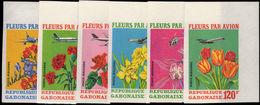 Gabon 1971 Flowers By Air Imperf Unmounted Mint. - Gabon