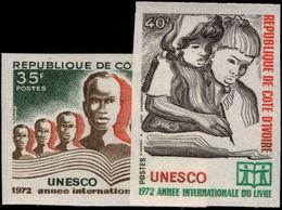 Ivory Coast 1972 Book Year Imperf Unmounted Mint. - Ivory Coast (1960-...)