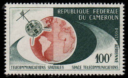 Cameroon 1963 Trans-Atlantic TV Satellite Link 100fr Air Unmounted Mint. - Cameroon (1960-...)