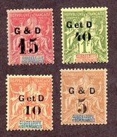 Guadeloupe N°45/48 N* TB  Cote 44 Euros !!! - Neufs