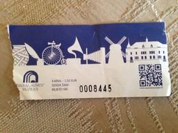 Ticket Siauliu Ausros Museum Lithuania 2018 - Tickets - Entradas