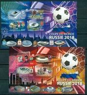 Gabun 2017 World Cup 2018  2 Sheetlets - 2018 – Russland