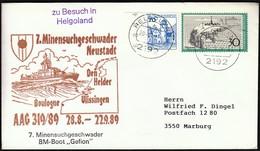 Germany Helgoland 1989 / Ship, Schiff, Shiffe / 7. Minensuchgeschwader Neustadt / BM Boot GEFION - Schiffe