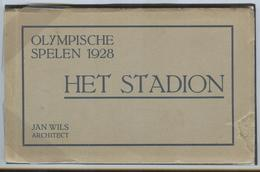 NETHERLANDS Unused Booklet With 12 Official Olympic Postcards With Perforation Right Side Of The Booklet Is Repaired - Summer 1928: Amsterdam