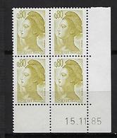 """FR Coins Datés YT 2241a """" Liberté 80c. Brun-olive Phosph à Gauche """" Neuf** Du 15.11.85 - 1980-1989"""