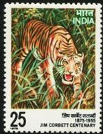 INDIA 1976 Jim Corbett Centenary Tiger Big Cat Fauna MNH - Inde