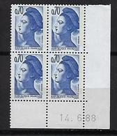 """FR Coins Datés YT 2240 """" Liberté 70c. Bleu-violet """" Neuf** Du 14.6.88 - 1980-1989"""