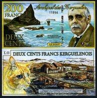 Kerguelen Island 200 Francs 2-1-2012, POLYMER, UNC - Billets