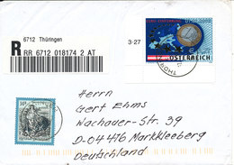 Austria Registered Cover Sent To Germany Thüringen 12-2-2002 Good Franked Topic Stamp MAP - 1945-.... 2nd Republic
