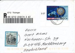 Austria Registered Cover Sent To Germany Thüringen 12-2-2002 Good Franked Topic Stamp MAP - 1945-.... 2. Republik