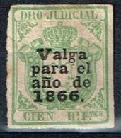 Derecho Judicial Antillas, 1866, Con Sobrecarga - Fiscales