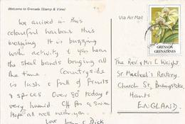 Grenada 1991 Georg's Orchid Anacheilium Fragrans  Viewcard - Grenada (1974-...)
