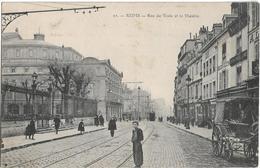 Reims : Rue Des Vesle Et Le Théâtre - Reims
