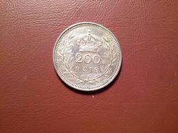 200 Reis D. Manuel II  1909   Silver - Portugal