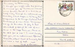 RSA South Africa 1999 Cape Town Hinduism Danse Temple Viewcard - Hinduism
