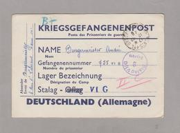 KRIEGSGEFANGENENPOST - STALAG VI G - Prisonniers De Guerre 1940 - - Storia Postale