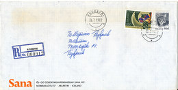 Iceland Registered Cover Akureyri 26-7-1982 - 1944-... Republique