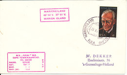 South Africa RSA Ship Cover M. S. R.S.A. Cape Town Marioneiland Marion Island 28-6-1977 - South Africa (1961-...)