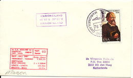 South Africa RSA Ship Cover M. S. S.A. Agulhas Marioneiland Marion Island 4-10-1978 ?? - South Africa (1961-...)