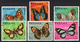 PANAMA - 1968 - SERIE FARFALLE - BUTTERFLIES - USATI - Panama