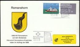 Switzerland 1978 / NORDPOSTA / MS Romanshorn / Ship, Schiff, Shiffe - Boten