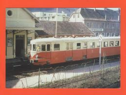 PL/1 MARS 1969 AUTORAIL DE DIETRICH X 42504 QUITTE POUR LA DERNIERE FOIS LA GARE GUEBWILLER POUR LAUTENBACH - Spoorweg