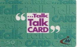 CARTE-PREPAYEE-2001-50$-HONG KONG-TALK CARD-Plastic Transparent Epais- - Hong Kong