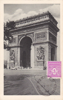 Carte-Maximum FRANCE N° Yvert 620 (ARC DE TRIOMPHE) Obl Sp Paris 1er Jour 9.10.44 (Ed Braun) - Maximum Cards