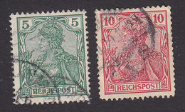 Germany, Scott #54-55, Used, Germania, Issued 1900 - Gebraucht