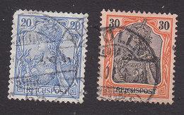 Germany, Scott #56, 58, Used, Germania, Issued 1900 - Gebraucht