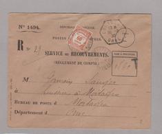 LSC 1930 - Service De Recouvrement Taxé YT 58 - Portomarken