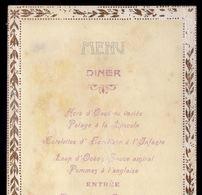 1905 MENU DINER Avant La Voyage De ROI De PORTUGAL En FRANCE. Menu Jantar 1 Dia Antes Da Chegada REI D.CARLOS A FRANÇA - Menus