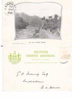 Old Pc Singapore North Borneo Padas Gorge Postmark Sandakan - Singapore
