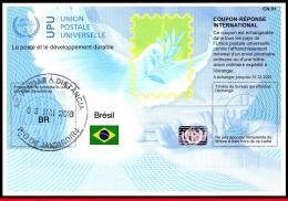 Ref. BR-COUPON-2 BRAZIL 2018 U.P.U., COUPON-REPONSE, INTERNATIONAL (COUPON RESPONSE) 1V - Brazil