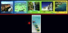 Ref. BR-V2017-14+E BRAZIL 2017 TOURISM, UPAEP, WATERFALL, BEACH,, TOURIST ATTRACTIONS, STRIP MNH 5V - Unused Stamps
