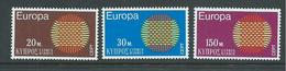 Cyprus 1970 Europa Sun Set 3 MNH - Zypern (Republik)