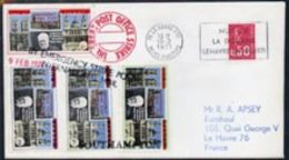 37900 Great Britain 1971 Postal Strike Cover To France Bearing Set Of 4 Pabay Churchill Values Overprinted 'Emergency St - Sir Winston Churchill