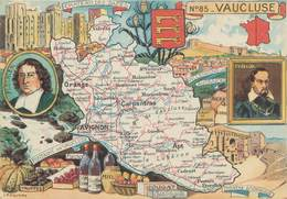 """CPSM FRANCE 84 """" Carte Géographique Du Vaucluse"""" - France"""