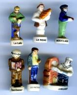 Lot De 6 FÈVES PERSONNAGE METIER - Characters