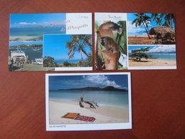Mayotte : Trois Cartes Postales Sur Le Thème Des Ilots De Brandélé Et De Bouzi. - Comoros