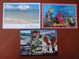 Mayotte : Trois Cartes Postales Humoristiques. - Comoros