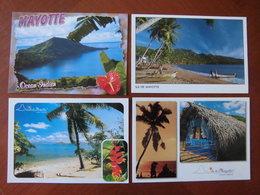Mayotte : Quatre Cartes Postales Sur Le Thème Des Paysages Maritimes. - Comoros